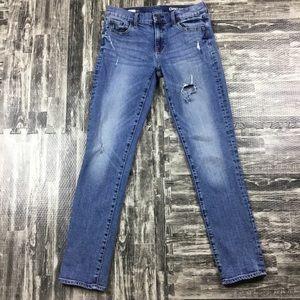 Gap Girlfriend Jeans Size 27 T Distressed Pants